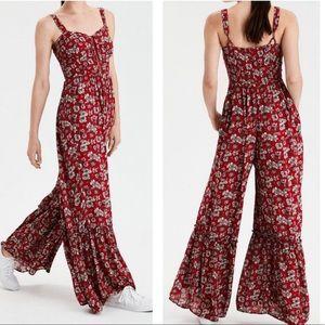 •AEO• Floral Jumpsuit
